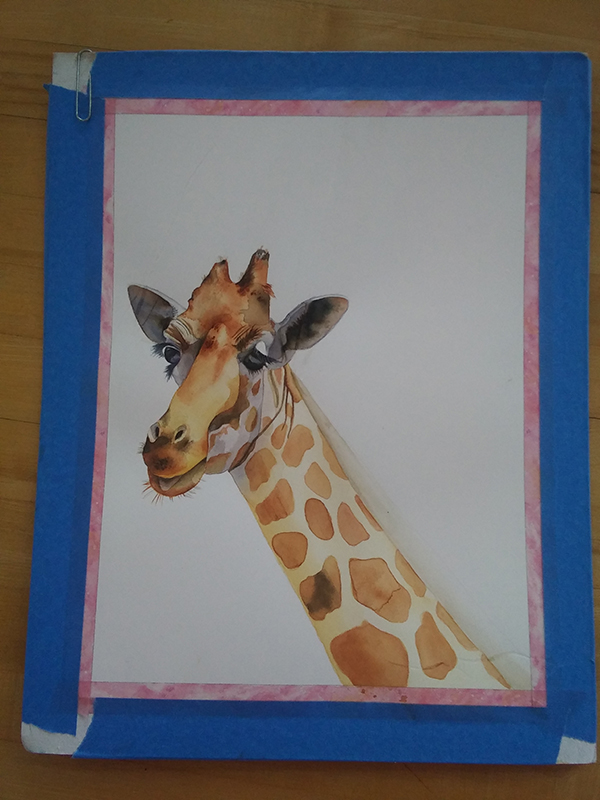 giraffe watercolor