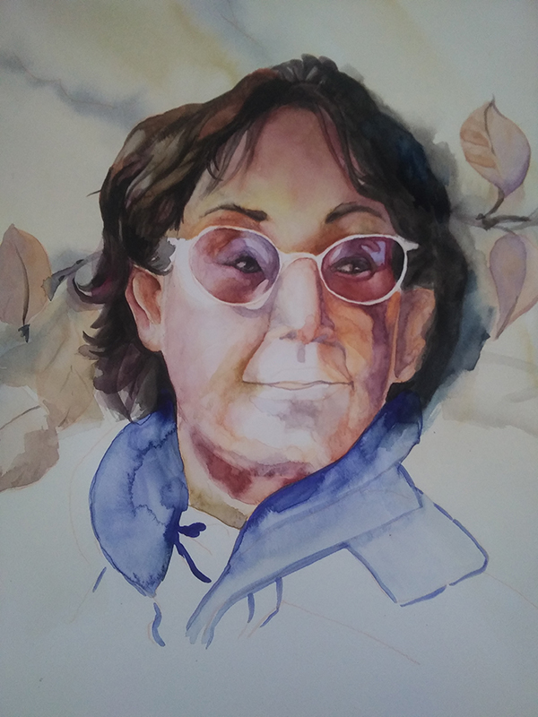 watercolor portait wip
