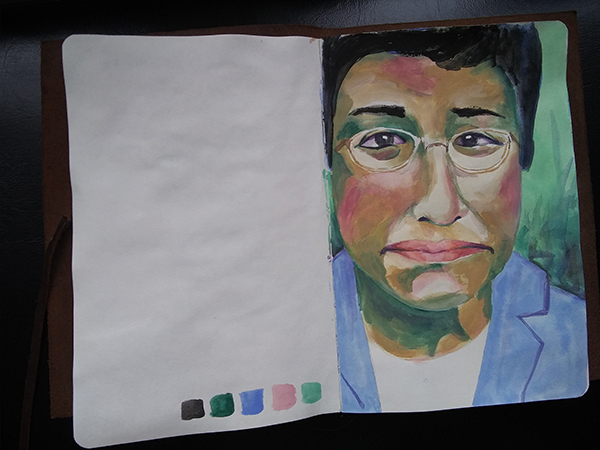 Maria Ressa portrait study