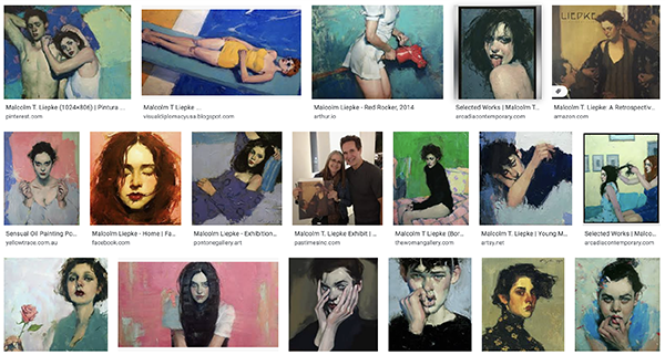 Malcolm Liepke paintings