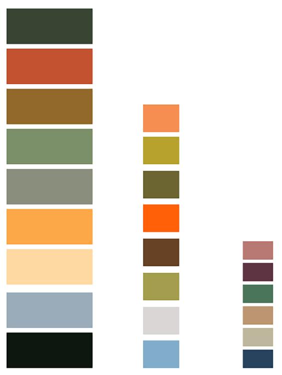 tropical palettes