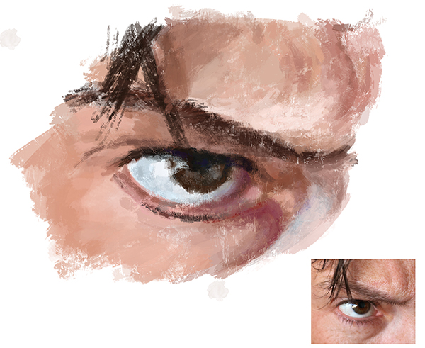 eye study in photoshop